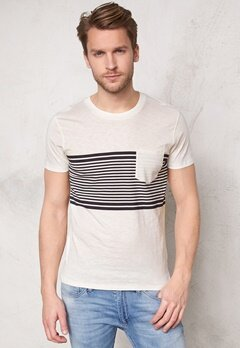 SELECTED HOMME Liam ss Tee Marshmallow Bubbleroom.fi