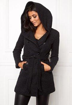ONLY Lisa Long Wool Coat Black Bubbleroom.se