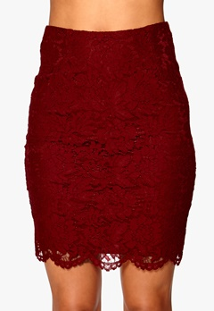 Make Way Allyson Skirt Dark red Bubbleroom.se
