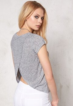 Make Way Haidy Top Light grey melange Bubbleroom.se