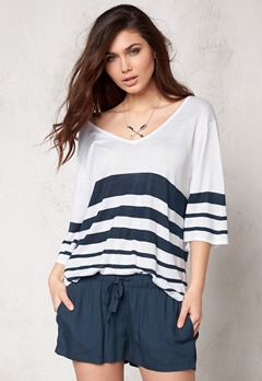 Make Way Iris Sweater White/Blue/Striped Bubbleroom.se