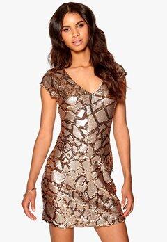 Make Way Shea Dress Gold/Brown Bubbleroom.se