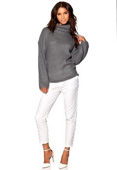 Make Way Lachlan Sweater Grey Bubbleroom.se
