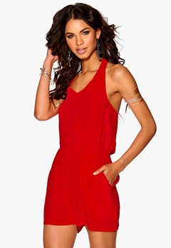 Make Way Lainy Playsuit Red Bubbleroom.se