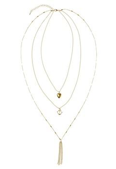 Make Way Marchelle Necklace Gold Bubbleroom.se
