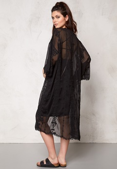 Make Way Mariah Long Kimono Black Bubbleroom.se