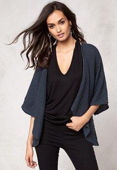 Make Way Phenix Kimono Cardigan Dark Grey Bubbleroom.se