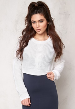 Make Way Shirley Sweater White Bubbleroom.se