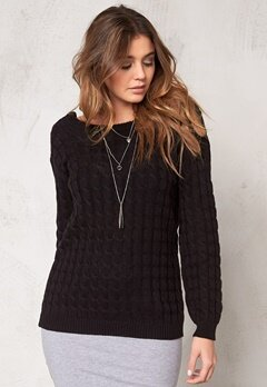Make Way Signe Sweater Black Bubbleroom.se