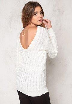 Make Way Signe Sweater White Bubbleroom.se