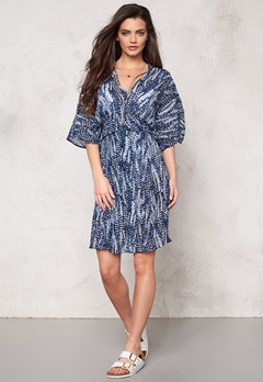 Make Way Suki Dress Dark blue/White/Pat Bubbleroom.se