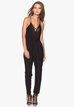 Make Way Waris Jumpsuit Black Bubbleroom.se