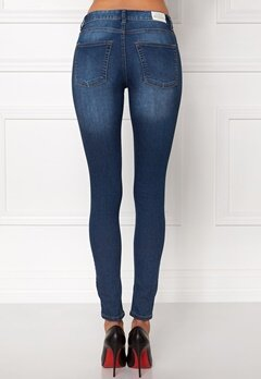 CHEAP MONDAY Mid Spray Jeans Dark Blue Bubbleroom.se