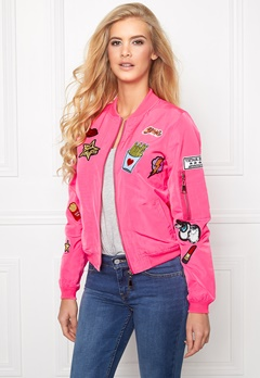 Mixed from Italy Badge Zip Detail Bomber Fuchia Bubbleroom.se