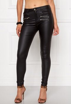 Mixed from Italy Coated Skinny Jeans Black Bubbleroom.se