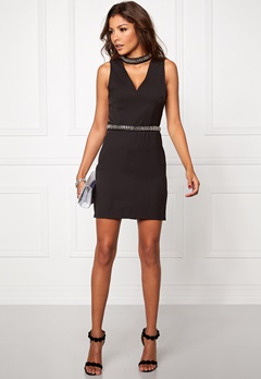 Mixed from Italy Diamante Choker Dress Black Bubbleroom.se