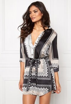 Mixed from Italy Shirt Dress Black/White Bubbleroom.se