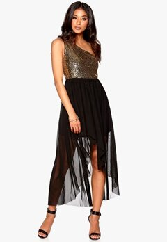 Model Behaviour Maria Maxi Dress Gold/Black Bubbleroom.se