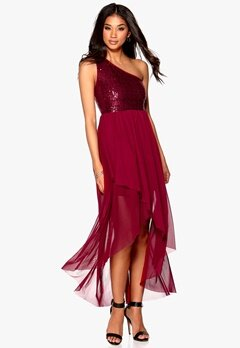 Model Behaviour Maria Maxi Dress Wine-red Bubbleroom.se