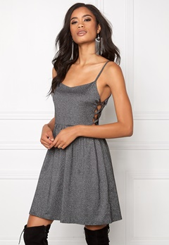Model Behaviour Moa Dress BlackSilver Bubbleroom.se
