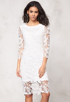 Model Behaviour Tuva Dress White Bubbleroom.dk
