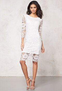 Model Behaviour Tuva Dress White Bubbleroom.fi