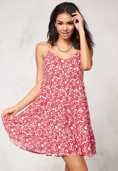 Model Behaviour Tyra Dress Red/White Bubbleroom.se