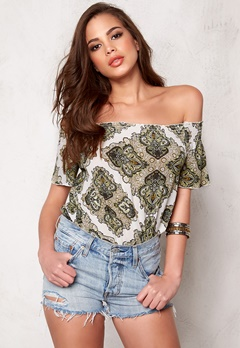 OBJECT Nevada Off-Shoulder Top Dried Herb Bubbleroom.se