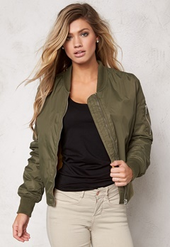 Rut & Circle New Kate Bomber Jacket Vintage Green Bubbleroom.se