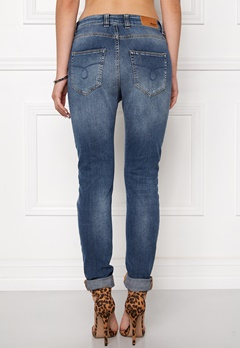 OBJECT Ally Antifit 467 Jeans Dark Blue Denim Bubbleroom.se