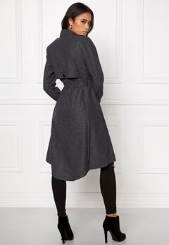 OBJECT Ann Lee Wool Jacket Dark Grey Melange Bubbleroom.se