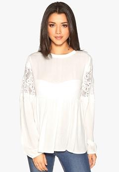 OBJECT Beate L/S Shirt Egret Bubbleroom.se