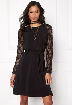 OBJECT Cam l/s Dress Black Bubbleroom.se