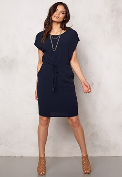OBJECT Dallas s/s Knee Dress Sky Captain Bubbleroom.se
