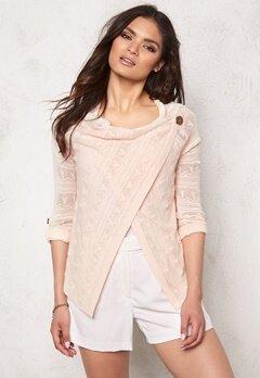OBJECT Deani L/S Knit Cardigan Pink Champagne Bubbleroom.se