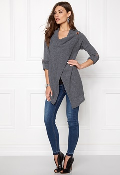 OBJECT Deanna Knit Cardigan Grey Melange Bubbleroom.se