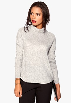 OBJECT Ilse Knit Pullover Light Grey Melange Bubbleroom.se