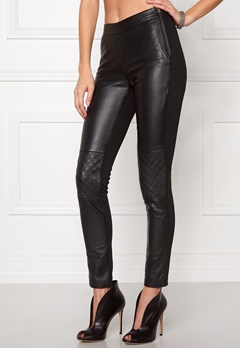 OBJECT Jasmin Leather Leggings Black Bubbleroom.se