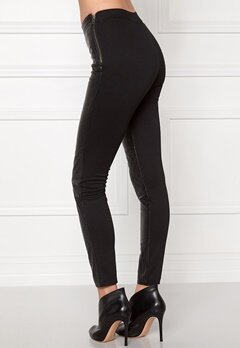 OBJECT Jasmin Leather Leggings Black Bubbleroom.se