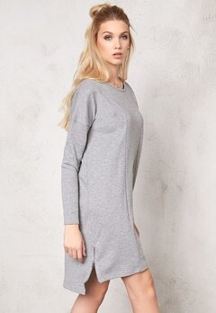 OBJECT Jennifer L/S Sweat Dress Medium Grey Melange Bubbleroom.se
