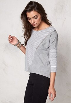 OBJECT Julie L/S Top Light Grey Bubbleroom.se