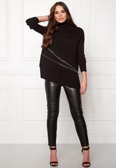 OBJECT Nadine L/S zip pullover Black Bubbleroom.se