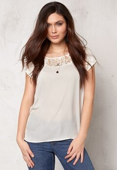 OBJECT Nicole S/S Top Egret Bubbleroom.se