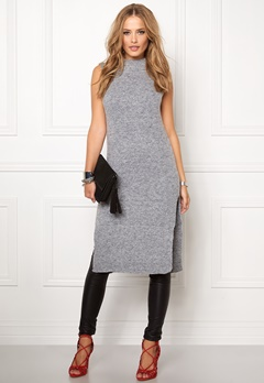 OBJECT Nina nonsia S/L knit Medium grey melange Bubbleroom.se