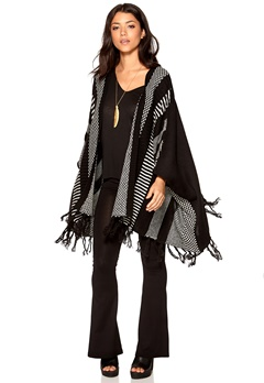 OBJECT Perry L/S Knit Poncho Black Bubbleroom.se