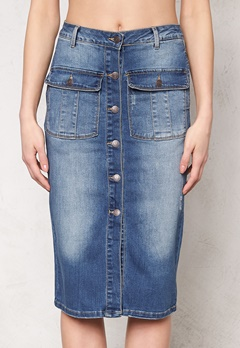 OBJECT Seven Denim Skirt Medium Blue Denim Bubbleroom.se