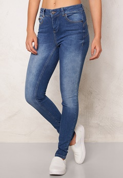 OBJECT Skinny Sally 205 Jeans Medium Blue Denim Bubbleroom.se