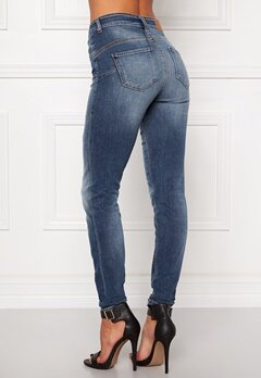 OBJECT Skinny Sally 462 Jeans Dark Blue Denim Bubbleroom.se
