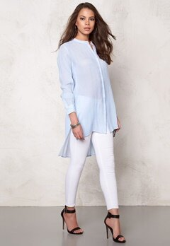 OBJECT Summer L/S Long Shirt Light Blue Denim Bubbleroom.se