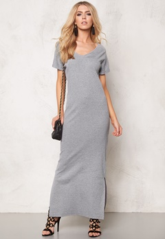 OBJECT Tallulah s/s Ankel Dress Light Grey Melange Bubbleroom.se